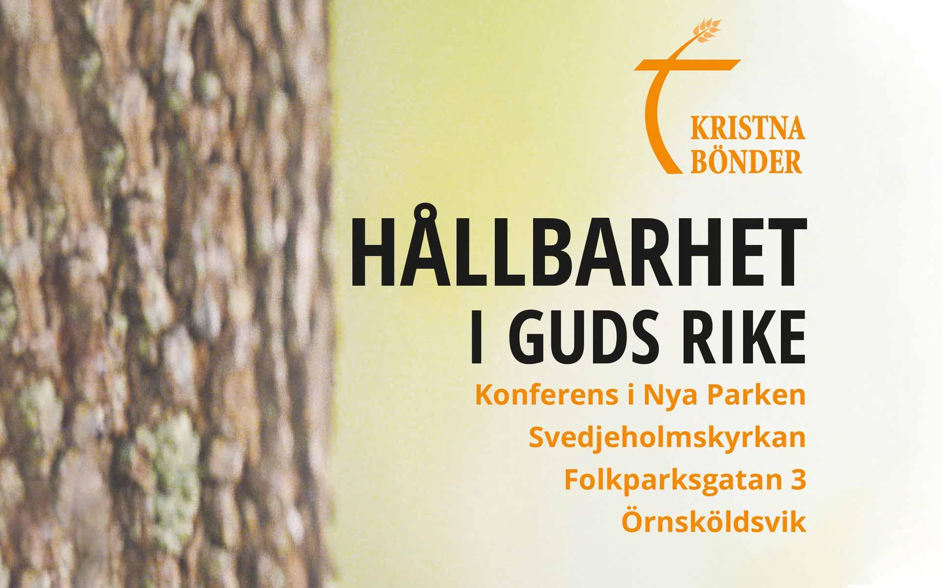 Välkommna till Kristna Bönders konferens i Örnsköldsvik